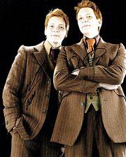James & Oliver PHELPS Signed 10 x 8 Photo 2 AFTAL COA Harry Potter Weasley Twins