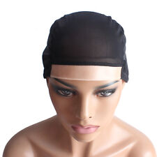 Wig Cap for Making Wigs PU Whole Stretchy Nets Adjustable Straps Medium M Black