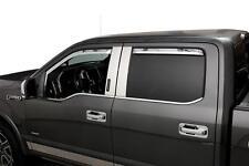 Element Chrome Window Visors - 2017-2018 Ford F250 F350 F450 Crew Cab SD 4PC Set
