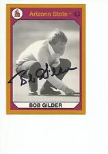 BOB GILDER Autographed Signed 1990 card ASU Arizona State Sun Devils COA