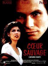 """Affiche 120 x 160 du film """"COEUR SAUVAGE"""" de Tony Bill avec Christian Slater ."""