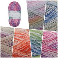 King Cole Caribbean Calypso DK Crimped Summer Acrylic Knitting Wool Yarn 100g