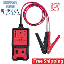 USA 12V Electronic Automotive Relay Tester For Cars Auto Battery Checker Red