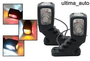 4 PCS Stalk Side LED MARKER 12V LIGHT LAMP AMBER RED WHITE TRUCK TRAILER LORRY