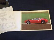 1975 Monteverdi Super Car Full Range Color Brochure Catalog Prospekt