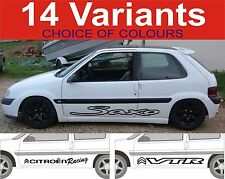 citroen saxo vts vtr decals stickers 2 off graphics 14 designs