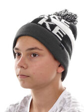 O`Neill Beanie Ski Cap Pompom Hat Boys Take A Hike Black Warm Waistband