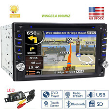 2020 Double 2Din Indash GPS Sat Nav Car Stereo DVD Player Radio 6.2