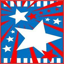 30 Custom USA Banner Art Personalized Address Labels