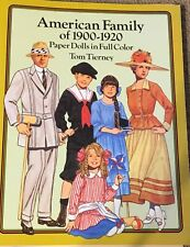 American Family Of 1900-1920 Paper Dolls In Full Color By Tom Tierney homeschool