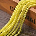 New 200pcs 4mm Bicone Faceted Lustrous Loose Spacer Glass Beads Yellow