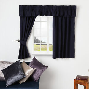 CARAVAN  CURTAINS FULLY LINED READY MADE IN HERRINGBONE DESIGN MADE TO MEASURE