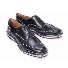 Christian Louboutin Men's Black Studded Lace Toe Punk Rock Shoes US 10 eu 43