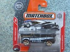 Matchbox 2018 #067/125 2015 SUBARU WRX STI black police car CaseC
