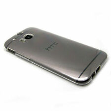 HTC One 2 M8 2014 Ultra-thin Clear Crystal GEL TPU Case Cover + Screen Protecto