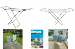 18M Silver Foldable Indoor Laundry Clothes Airer Dryer Washing Line Horse Rack