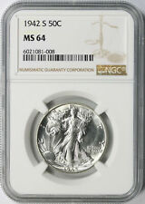 1942-S 50c Walking Liberty Half Dollar NGC MS64