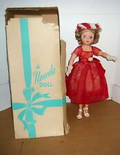 "19"" VINTAGE UNEEDA DOLL IN FORMAL RED DRESS W/BOX"