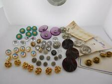 57 Shank Buttons Vintage Ornate Large Small Glitzy Gold Tone Pretty & More