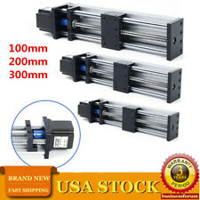 Ball Screw Linear Rail Motion Slide Table w/23nema Stepper Motor CNC100-300mm US