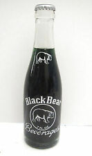 1968 Black Bear Grape Soda 7 oz Full Soda Bottle - Acl Label