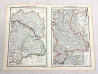 1909 Antique Map of Eastern Hungary Galicia The Austrian Tyrol George Philip
