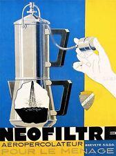 Publicité café percolateur filtre machine pompe action caffiene France imprimer lv632