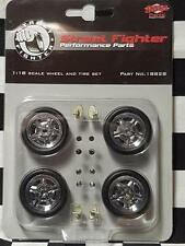 Street Fighter 1/18th Mag Wheel & Tyre Set by GMP USA