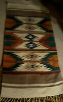 Antique Vtg Navajo WOOL   Rug  Native American Indian  58''x29''
