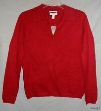 CHARTER CLUB RED 2 PLY CASHMERE SWEATER SZ S NWTG $120