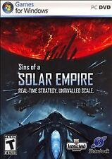 Sins of a SOLAR EMPIRE (PC, 2010) PC DVD Stategy Video Game for Windows - GREAT