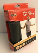 Valeo Speed Rope Skipping Jump Rope 9 Ft Cardio Metal Bearing Black Padded Grip