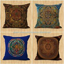 set of 4 sofa pillow covers cushion cover Tibetan Buddhism mandala
