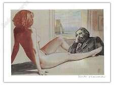Affiche Milo MANARA Hommage à la peinture Nu 02 signé 28,5x38 cm