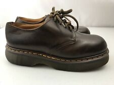 Doc Dr Martens 8434 Vintage Oxford Shoes Mens US 9 Brown Leather Made In England