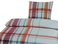 Tarrington House microfibra ropa de cama set 3 pzas. 200 x 200 cm blanco/rojo/azul