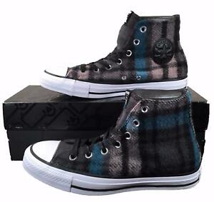 Converse by Woolrich Chuck Taylor All Star Sneakers Blue/Black Plaid Wool 149455