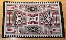 Navajo Rug Handmade Native American Indian Weaving Storm Pattern 42-1/2 x 68in