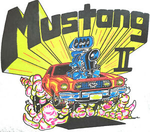 Ford Mustang II  Early 70's T-Shirt Vintage 70's Roach NOS 0240 US