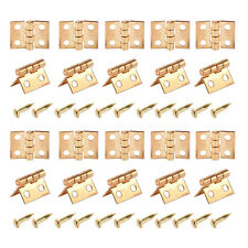 20x Miniature Hinges Nails Screws fits Dollhouse 1/12 Scale Cabinet Furniture