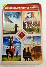 DVD 4 Movie Family  Red Fury, Crooked Sky, White Fang, Baker's Hawk  New