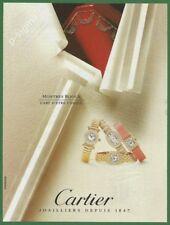 CARTIER montres bijoux jewel watches 1994- Print Ad