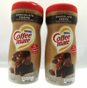 Coffee Mate ~ Chocolate Creme ~ Non-Dairy Creamer  15 oz container ~ Lot of 2