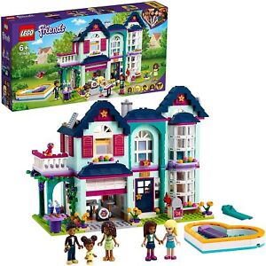 LEGO 41449 Friends Andrea's Family House Playset Doll House with Swimming Pool
