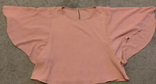 Girls Dusky Pink Flare Sleeve Top - Age7-8