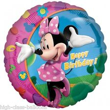"Disney Minnie Mouse -  Happy Birthday  18"" rounds foil balloon  Free P+P"