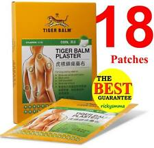 18x LARGE 10 x 14cm Tiger Balm Pain Relief Plaster - Cool 18 patches