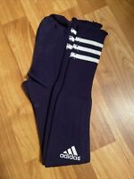 Adidas Purple White Stripes Soccer Socks