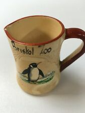Vintage Bristol Zoo Manor Ware Miniature Penguin Creamer Jug
