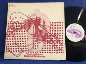 TANGERINE DREAM MEDITATION OMM 556004 1971 GERMANY LP EXC+